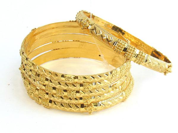 73.30g 22kt Gold Stackable Bangle Set (Sz: 8) - 169