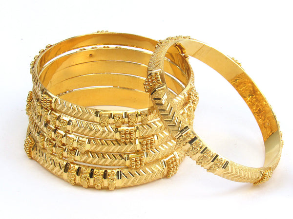 66.75g 22kt Gold Stackable Bangle Set (Sz: 2) - 171