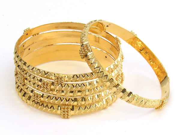 65.30g 22kt Gold Stackable Bangle Set (Sz: 6) - 172