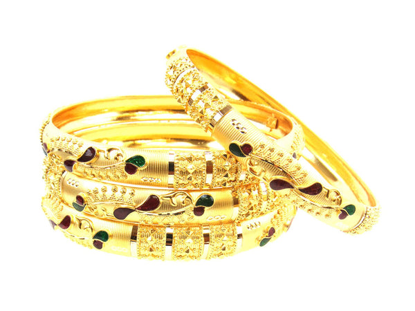 50.35g 22Kt Gold Stackable Bangle Set (Sz: 6) - 1730