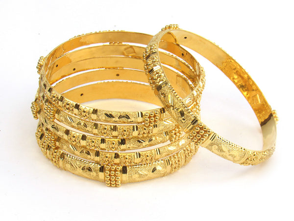 68.70g 22kt Gold Stackable Bangle Set (Sz: 4) - 173