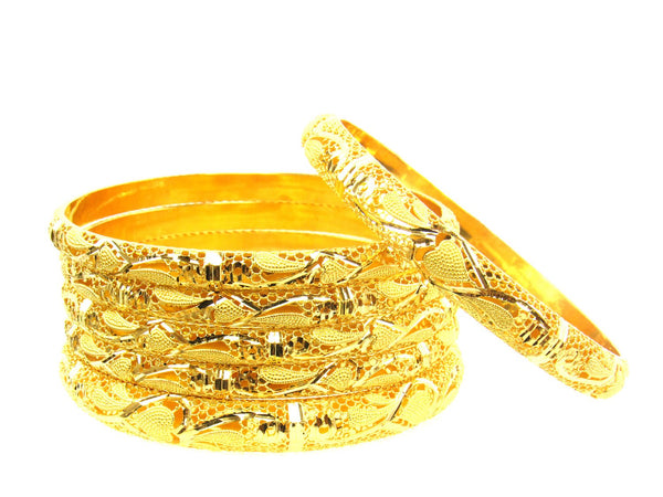 68.50g 22Kt Gold Stackable Bangle Set (Sz: 6) - 1743