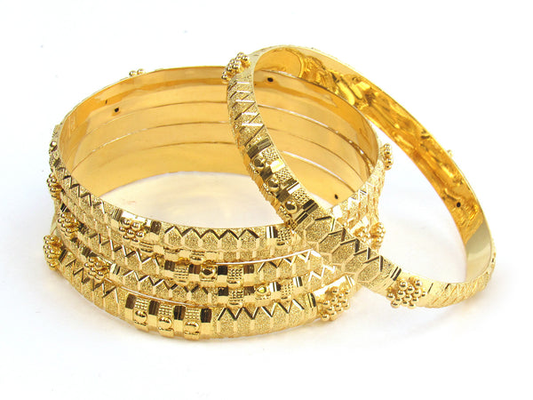 64.55g 22kt Gold Stackable Bangle Set (Sz: 6) - 174