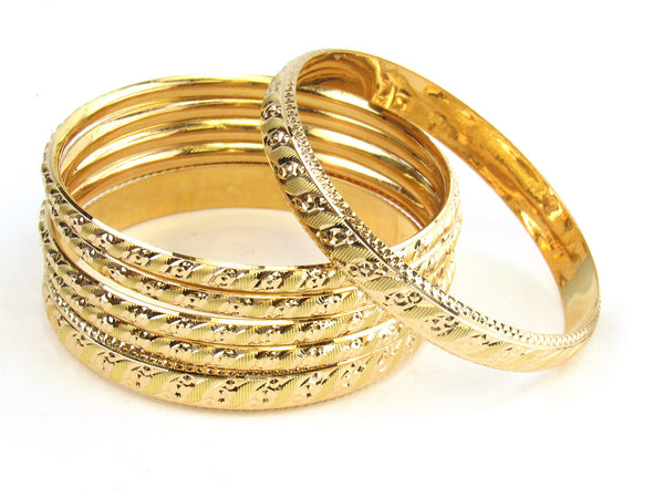 57.10g 22kt Gold Stackable Bangle Set (Sz: 8) - 178