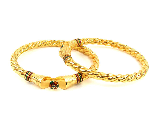 35.70g 22Kt Gold Stackable Bangle Set (Sz: 6) - 1796