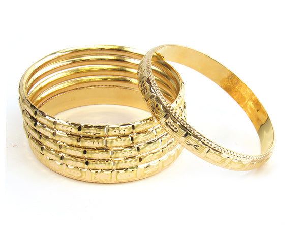 59.32g 22kt Gold Stackable Bangle Set (Sz: 8) - 179