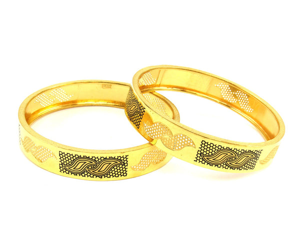41.00g 22Kt Gold Stackable Bangle Set (Sz: 6) - 1805