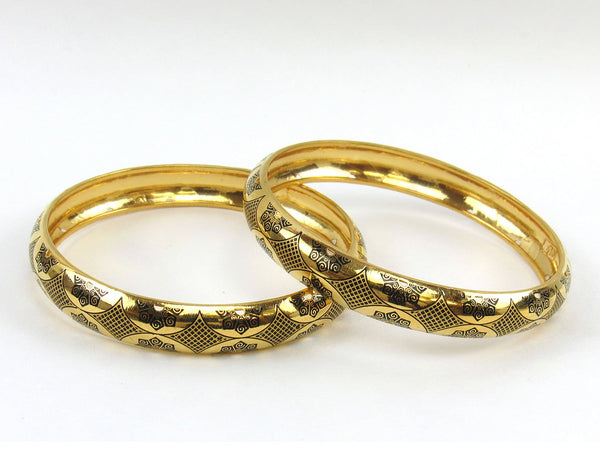 34.40g 22Kt Gold Stackable Bangle Set (Sz: 7) - 1808