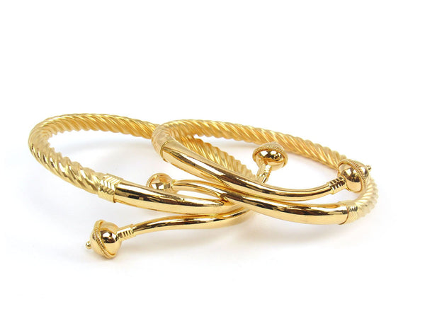 38.70g 22Kt Gold Stackable Bangle Set (Sz: 6) - 1814