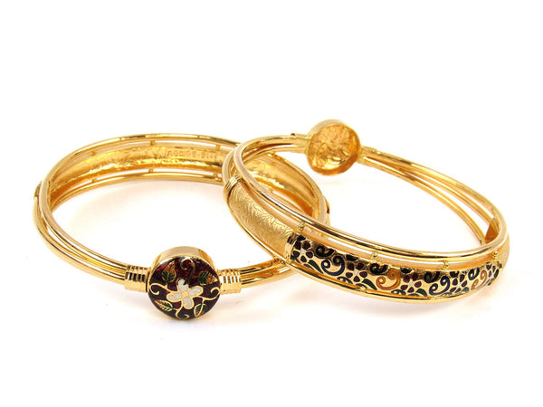44.50g 22Kt Gold Stackable Bangle Set (Sz: 8) - 1817