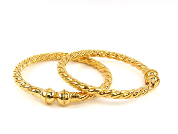 34.70g 22Kt Gold Stackable Bangle Set (Sz: 6) - 1820