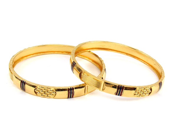 36.10g 22Kt Gold Stackable Bangle Set (Sz: 6) - 1825