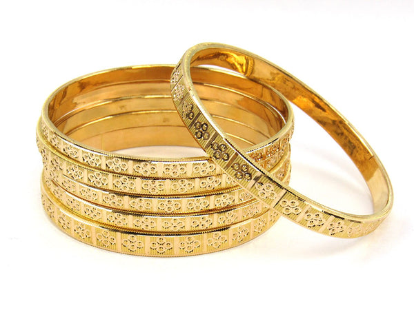 63.20g 22Kt Gold Stackable Bangle Set (Sz: 8) - 1835