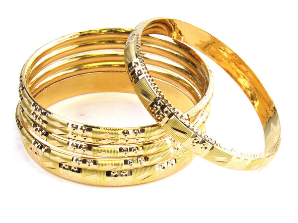 59.50g 22kt Gold Stackable Bangle Set (Sz: 8) - 183