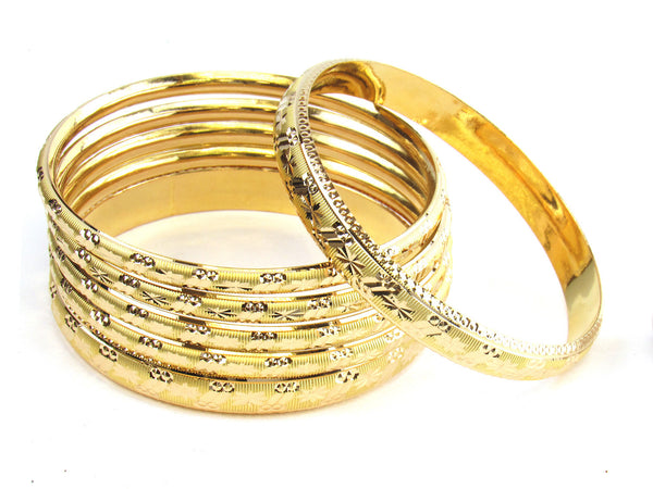 59.50g 22kt Gold Stackable Bangle Set (Sz: 8) - 184