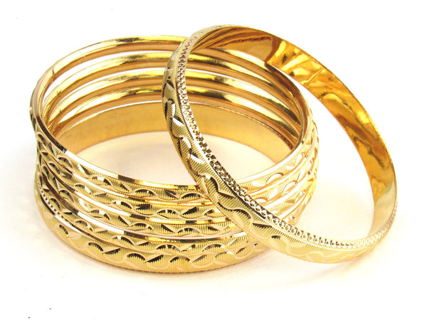 58.50g 22kt Gold Stackable Bangle Set (Sz: 8) - 187