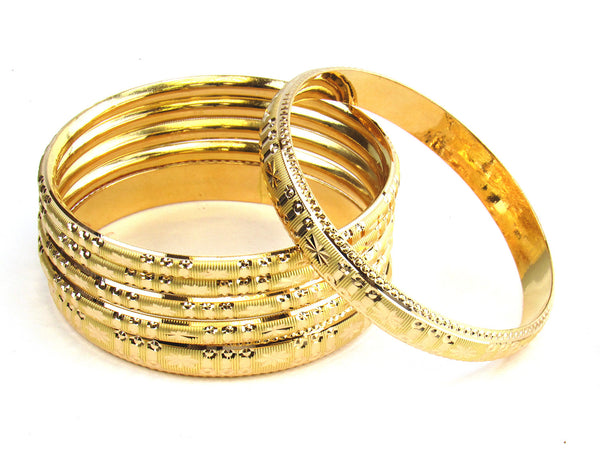 59.85g 22kt Gold Stackable Bangle Set (Sz: 6) - 188