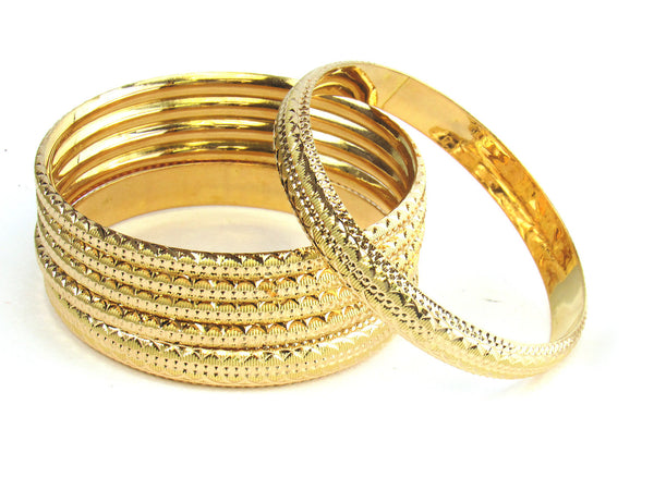 57.80g 22kt Gold Stackable Bangle Set (Sz: 6) - 190