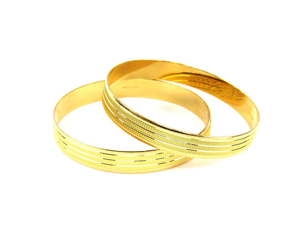 55.00g 22Kt Gold Stackable Bangle Set (Sz: 8) - 1911