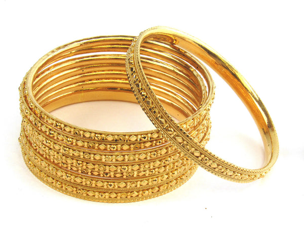 118.20g 22kt Gold Stackable Bangle Set (Sz: 8) - 193