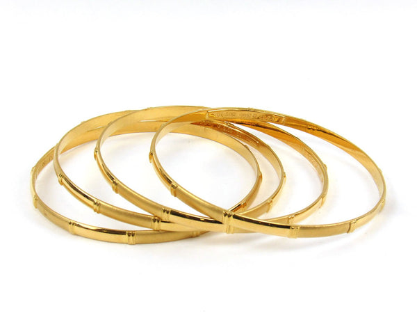 55.00g 22Kt Gold Stackable Bangle Set (Sz: 8) - 1951