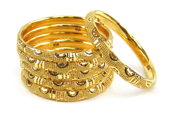 71.40g 22Kt Gold Stackable Bangle Set (Sz: 4) - 1960