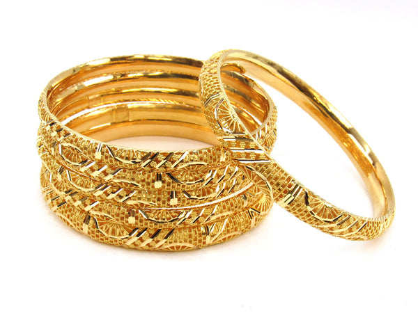 83.70g 22Kt Gold Stackable Bangle Set (Sz: 8) - 1974