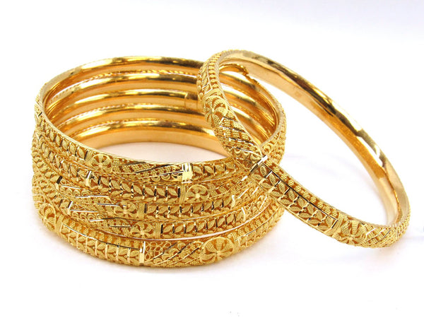81.20g 22Kt Gold Stackable Bangle Set (Sz: 10) - 1975