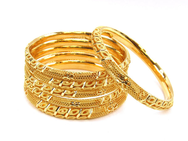 84.80g 22Kt Gold Stackable Bangle Set (Sz: 8) - 1976