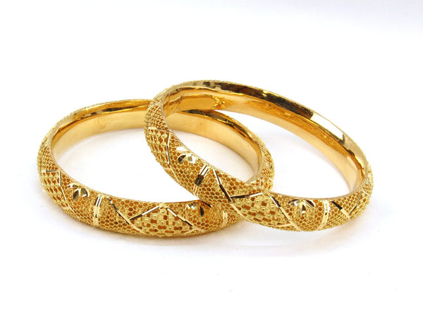 38.30g 22Kt Gold Stackable Bangle Set (Sz: 6) - 1981