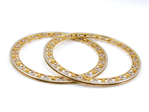 33.20g 22Kt Gold Stackable Bangle Set (Sz: 6) - 1984