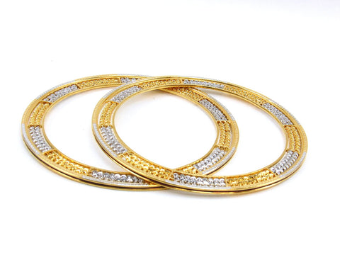 49.30g 22Kt Gold Stackable Bangle Set (Sz: 8) - 1986