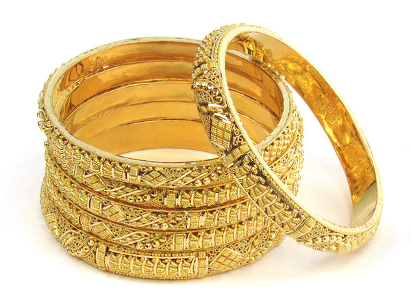 95.00g 22kt Gold Stackable Bangle Set (Sz: 4) - 201