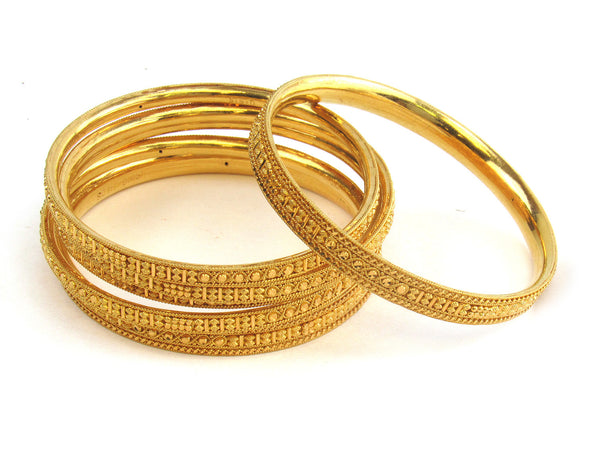 91.90g 22kt Gold Stackable Bangle Set (Sz: 4) - 203