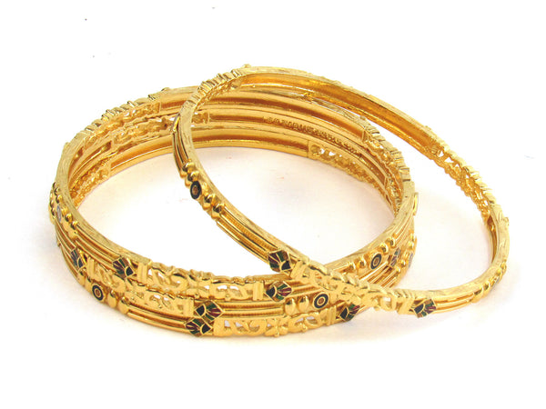 62.30g 22kt Gold Stackable Bangle Set (Sz: 6) - 204
