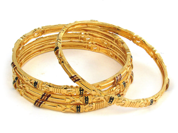 62.40g 22kt Gold Stackable Bangle Set (Sz: 5) - 206