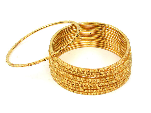 106.45g 22Kt Gold Stackable Bangle Set (Sz: 10) India Jewellery