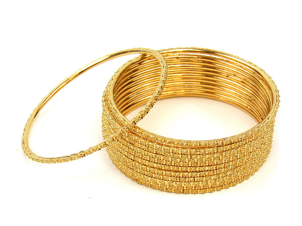99.30g 22Kt Gold Stackable Bangle Set (Sz: 8) - 210