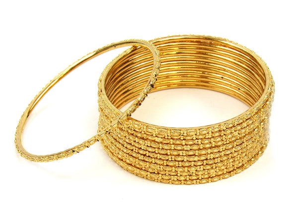 104.10g 22Kt Gold Stackable Bangle Set (Sz: 6) - 216