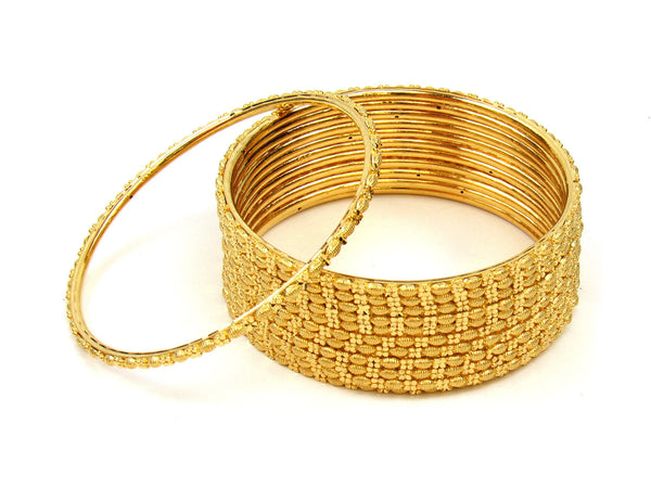 95.05g 22Kt Gold Stackable Bangle Set (Sz: 4) - 218