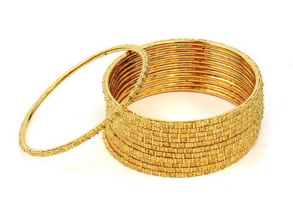 95.05g 22Kt Gold Stackable Bangle Set (Sz: 4) - 222