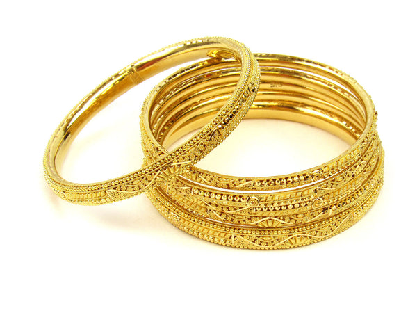 88.70g 22Kt Gold Stackable Bangle Set (Sz: 6) - 235