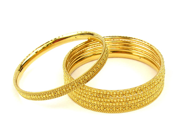 74.80g 22Kt Gold Stackable Bangle Set (Sz: 8) - 236