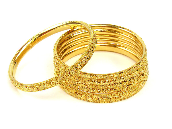 89.40g 22Kt Gold Stackable Bangle Set (Sz: 8) - 239