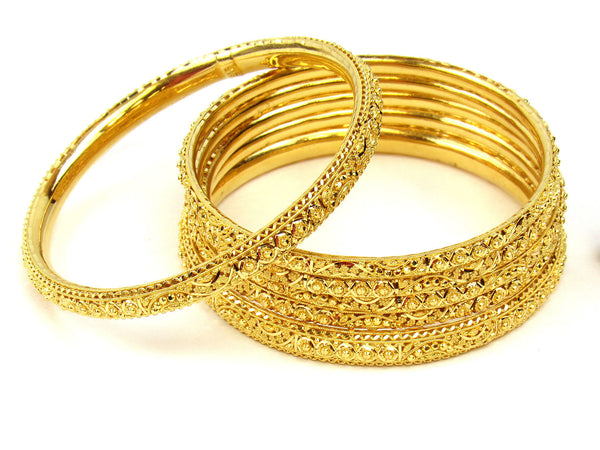 87.95g 22Kt Gold Stackable Bangle Set (Sz: 8) - 240