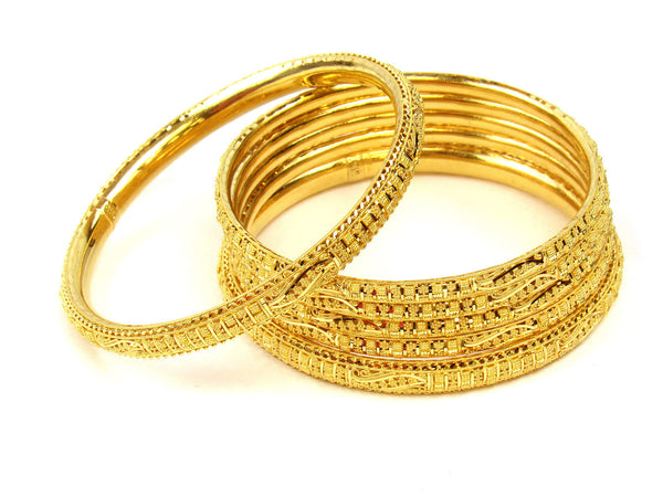 85.40g 22Kt Gold Stackable Bangle Set (Sz: 10) - 242
