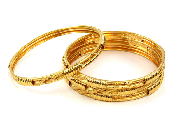50.52g 22Kt Gold Stackable Bangle Set (Sz: 8) - 260