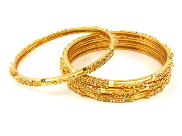 53.96g 22Kt Gold Stackable Bangle Set (Sz: 6) - 261