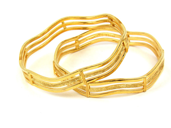 30.40g 22Kt Gold Stackable Bangle Set (Sz: 5) - 263