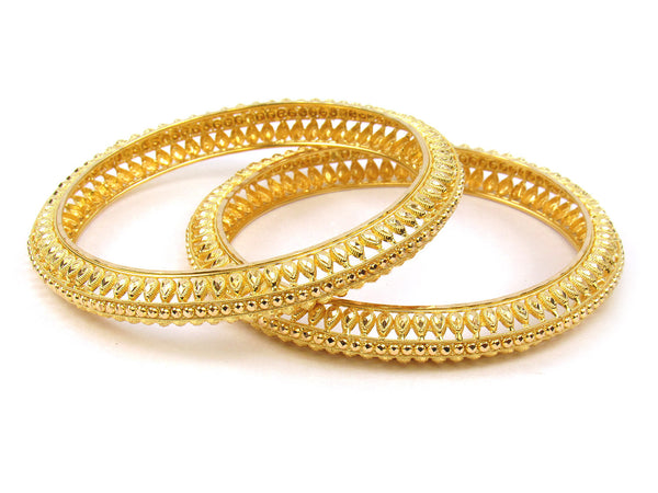 37.35g 22Kt Gold Stackable Bangle Set (Sz: 6) - 268